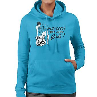 Route 66 Americas pin ups vrouwen Hooded Sweatshirt