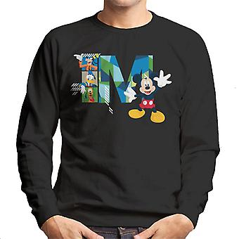 Disney Mickey Mouse Goofy Donald Duck und Pluto Männer's Sweatshirt