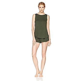 Brand - Mae Women's Sleepwear Senza maniche Split Back Top e Short Paja...