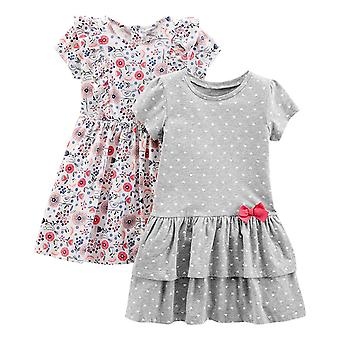 Simple Joys by Carter's Girls' Toddler 2-Pack Short-Sleeve and Sleeveless Dre...