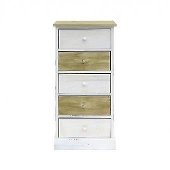 Rebecca Meble Szuflada Comodini 5 Białe szuflady z naturalnego drewna 84x40x29