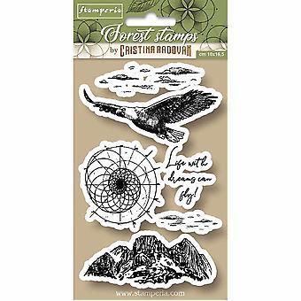 Stamperia Natural Rubber Stamp Eagle