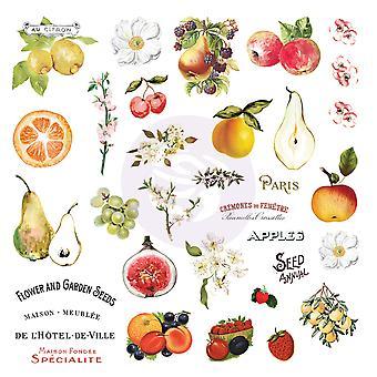 Prima Marketing Fruit Paradise Ephemera avec autocollants