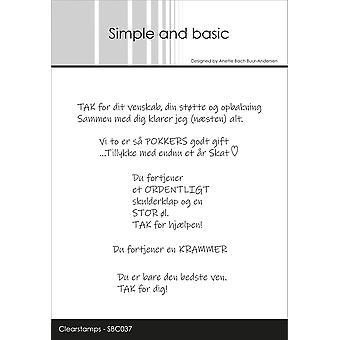 Simple and Basic Danish Texts 4 Clear Stamps