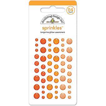 Doodlebug Design Tangerine Glitter Strössel (54st) (4536)
