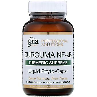 Gaia Herbs Professional Solutions, Curcuma NF-kB, Turmeric Supreme, 60 Liquid-Fi