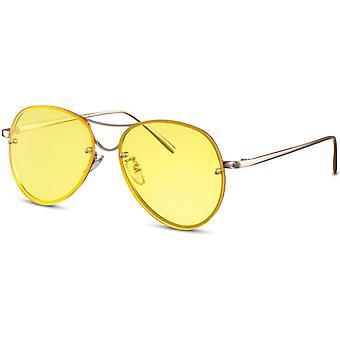 Zonnebrillen Unisex piloot goud/geel (CWI2145)