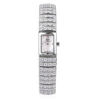 EON1962 Japanese Miyota Movement Simulated Diamond Studded Watch in Silver Steel