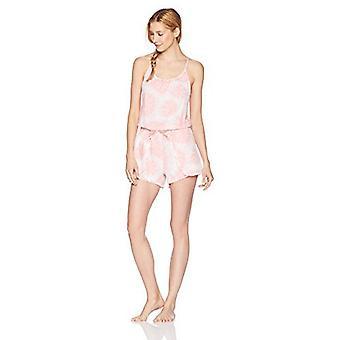 Brand - Mae Women's Sleepwear Printed Romper Pajamas, Sprial Tie Dye, ...