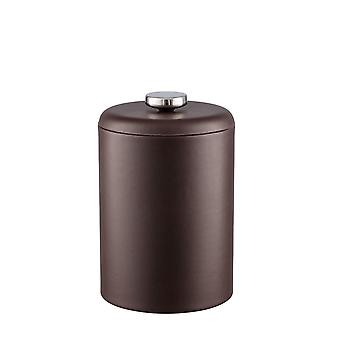 Contempo Brown 2Qt. Tall Ice Bucket With Thick Vinyl Lid,No Handle