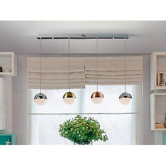 Schuller Sphere - Integrato LED Bar Soffitto Ciondolo Cromo, Ottone, Rame