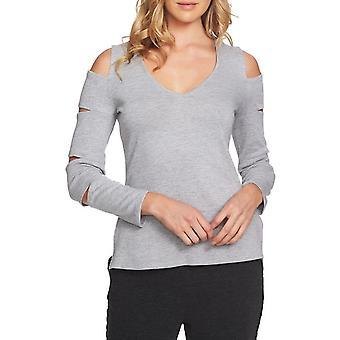 1.Estado | Suéter de manga cortada de decote V