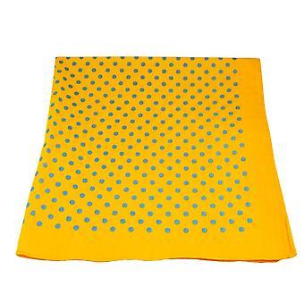 Laços Planeta Amarelo e Azul Polka Dot Bandana Neckerchief