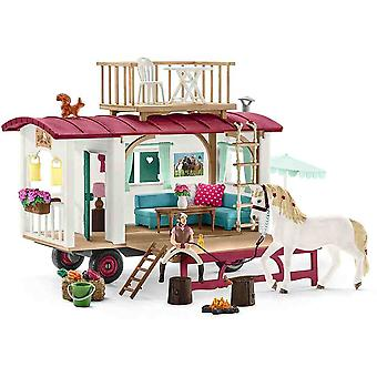 Schleich caravan for secret club meetings play set for children over 3 years old