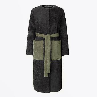Stine Goya - Matty - Manteau de fausse fourrure - Noir