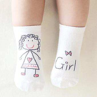 Socks Boy, Girl Senteces - Cute Cartoon Socks, Non-slip Soft Cotton