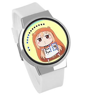 Impermeable Luminoso LED Digital Touch Reloj - himono onna #4