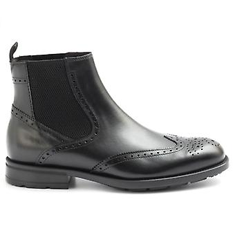 Marco Ferretti Black Leather Ankle Boot With Elastic