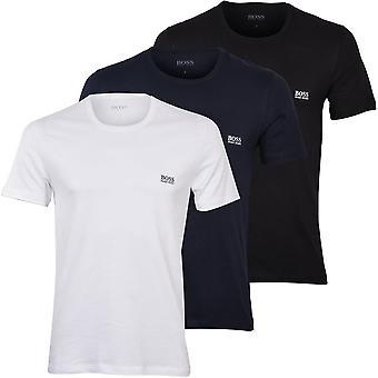 BOSS 3-Pack Crew-Neck T-Shirts, Navy/White/Black