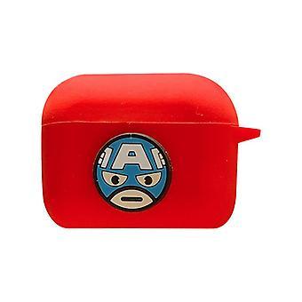 Schutzhülle Avengers Silikontasche für Apple AirPods Red (Captain America #2