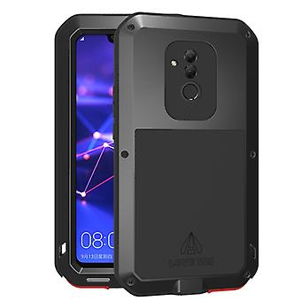 LOVE MEI Powerful Dustproof Shockproof  Metal + Silicone Combination Case for Huawei Mate20 Lite(Black)