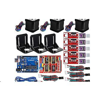 3d Printer Cnc Kit,for Arduino Grbl Shield+uno R3 Board+ramps 1.4 Mechanical