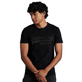 Superdry Vintage Logo Broderie T-Shirt Noir 58