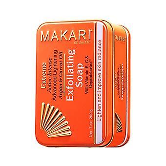 Makari Extreme Carrot & Argan Soap - 100% Natural Skin Lightening Routine - Lighten Skin Tone & Reduce Dark Spots with Vitamin E & C Formula - 200g
