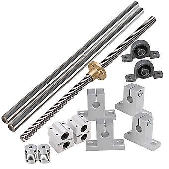 8mm Lead Rod Optical Axis Dual Rail Slide Stepper Coupler Horizonta Set