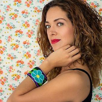 Mexican Textile Floral Bracelet
