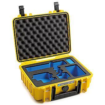 B&W GoPro Case Type 1000 pro GoPro Hero 9 s pěnovou vložkou, žlutou