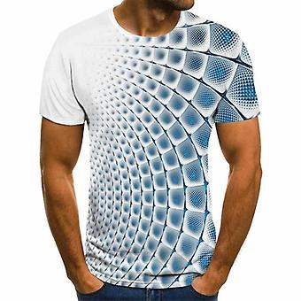 Lato Trójwymiarowy 3d Vortex Hip Hop Cute Tshirt / kobiety