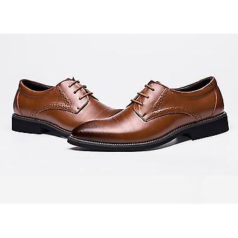 Klasik Erkekler Elbise Hakiki Deri Wingtip Resmi Ayakkabı