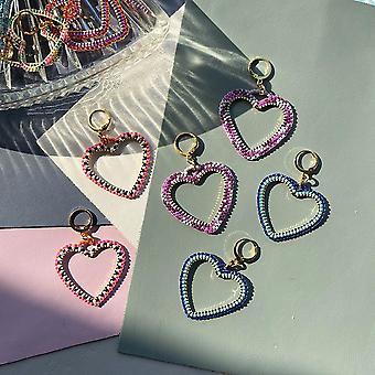 Candy Heart Hoop Earrings