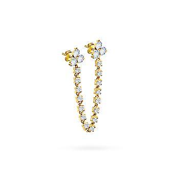 Cercei Dublu Britney Prețioase, 18K Aur & Diamante