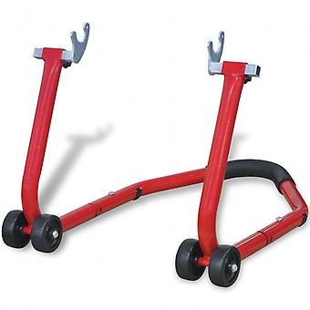vidaXL Motorcycle Stand Rear Red