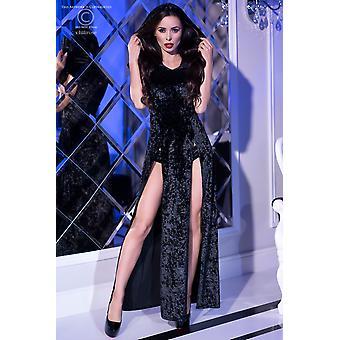 Vestido con capucha CR4302 tamaño negro: S