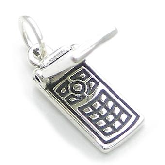 Aufklappbares Handy Sterling Silber Charm .925 X 1 Handy Charms - 4051