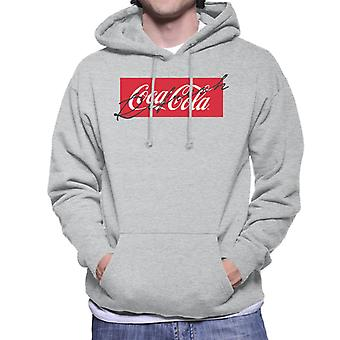 Coca Cola Refresh Signature Aesthetic Men's Hooded Sweatshirt