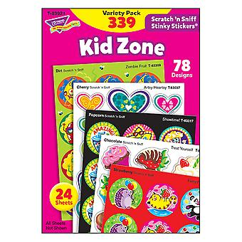 Kid Zone Stinky Stickers Variety Pack, 339 Count