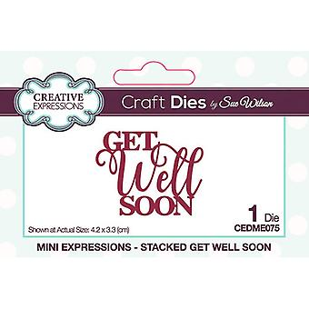 Creative Expressions Mini Expressions Collectie Cutting Dies - Get Well Soon