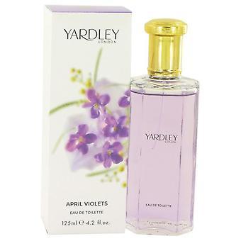 April Violets Eau De Toilette Spray By Yardley London 4.2 oz Eau De Toilette Spray