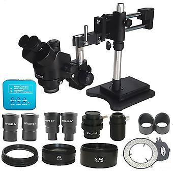 3.5X-90x двойной бум зум одновременного фокусного trinocular стерео микроскоп 38mp hdmi-comp usb микроскопия камеры телефона PCB ремонт инструментов