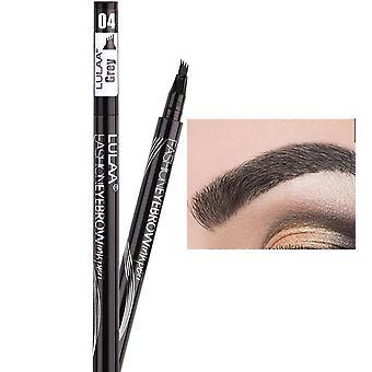 Waterproof Natural Eyebrow Four-claw Eye Brow Tint Makeup Brush Cosmetics