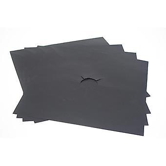 4pcs gjenbrukbare folie deksel gasskomfyr protector non-stick sheeting mat pad