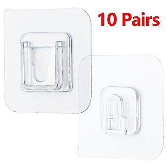 Double-sided Adhesive Wall Hooks Hanger Strong Transparent Hooks Suction Cup
