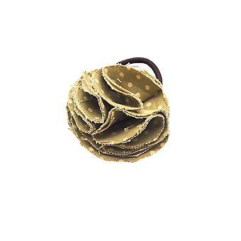 Dog collar flower accessory  - green spot
