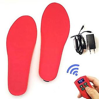 Rechargeable Heating Insole With Led Display Wireless, Foot Warmer For Shoes