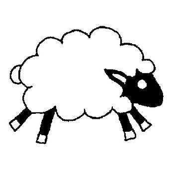 Sheep Wood Mounted Stamp
