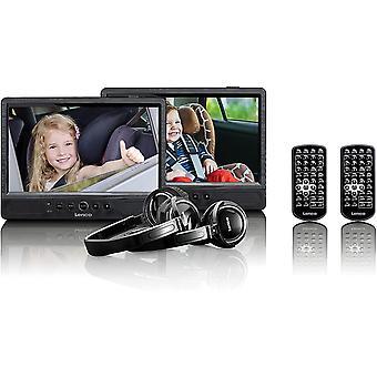Lenco Tragbarer DVD-Player DVP-1045 Doppel DVD-Player Set - 2 x 9 Zoll Bildschirm - minimal 4